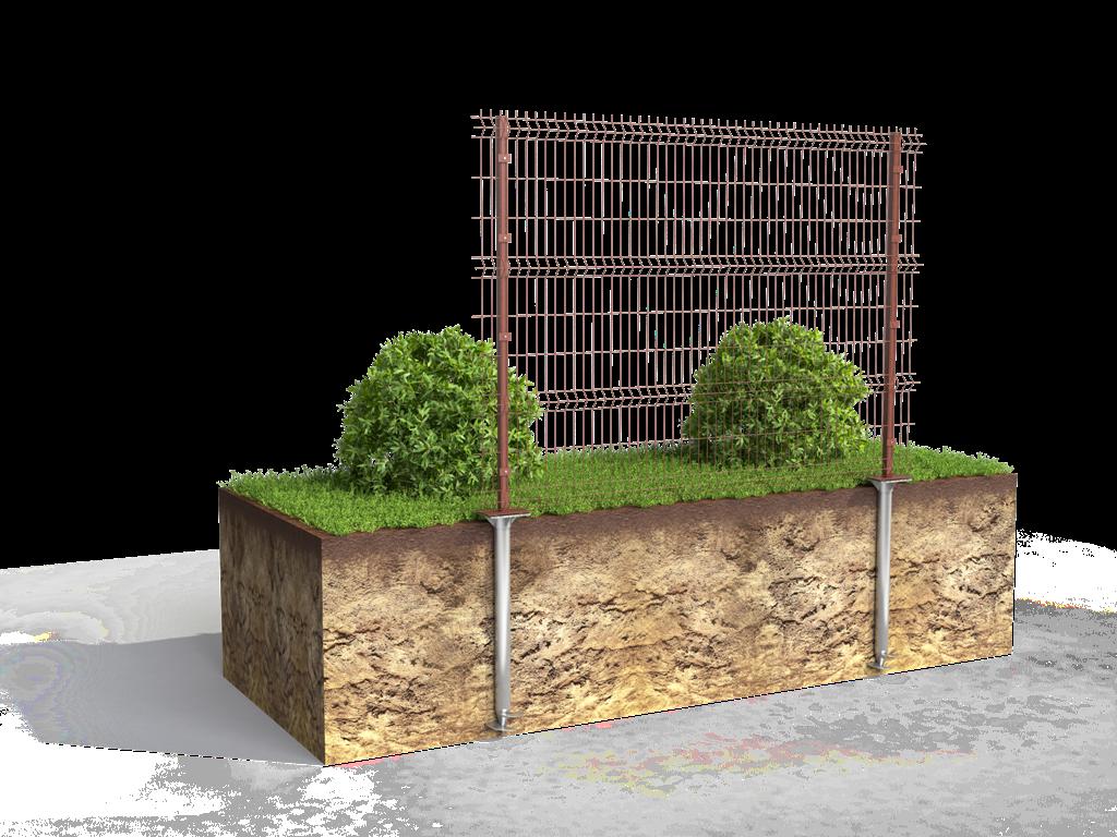 Этапы строительства забора на винтовых сваях
